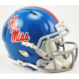 Mississippi (Ole Miss) Rebels Mini Riddell Speed Blue 1983-1994  2014 1df144b8e