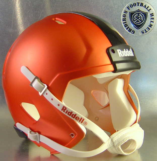 Image result for orange satin football helmet
