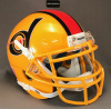 Detroit Wheels 1974 mini football helmets yellow mask