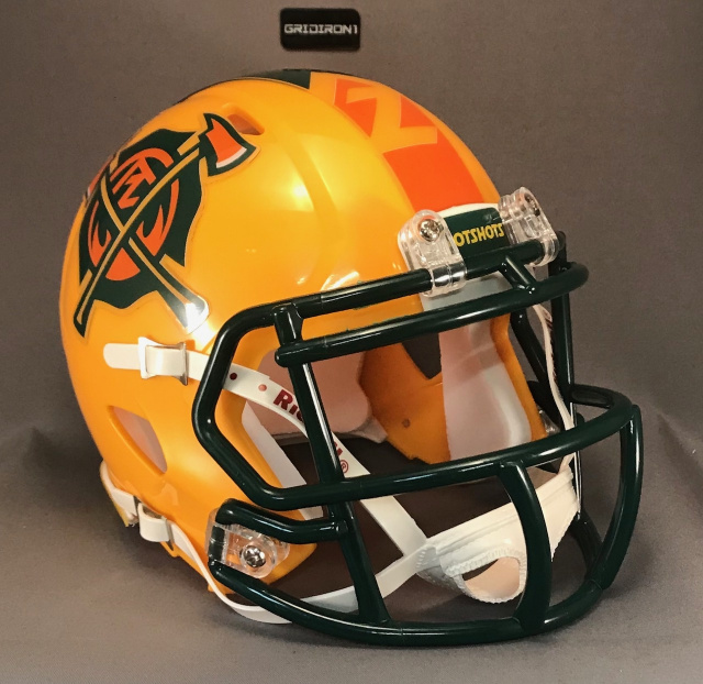 Arizona Hotshots Authentic Riddell Speed mini football helmet with your choice of Left side player n