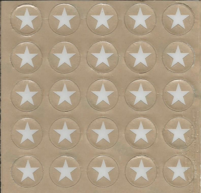 25 Stars Award Decals 1/2""
