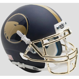Georgia Southern Eagles Gold Rush 2016 Schutt XP full size replica Helmet Chrome gold mask, Matte Na