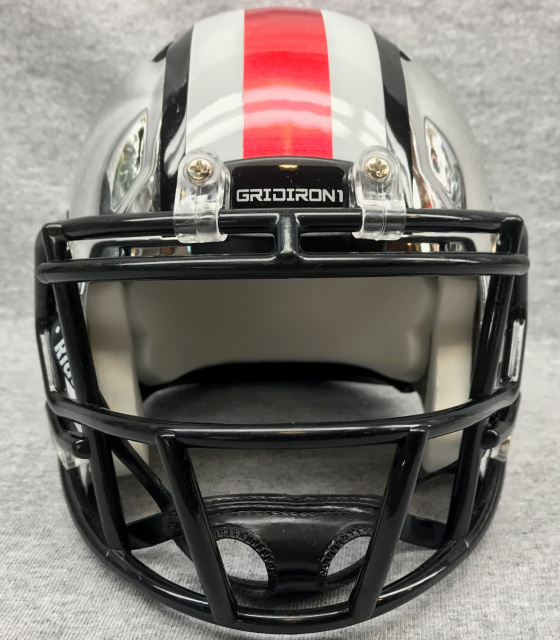 Ohio State Pro Combat 2012 mini football helmet Chrome stripe set