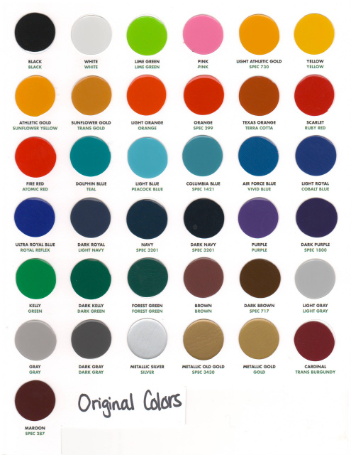 Standard Color Chart #1