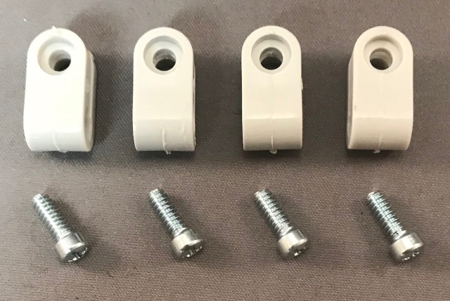 Gridiron1 Light Gray Mini Facemask Clips with Silver Screws (These are not painted)