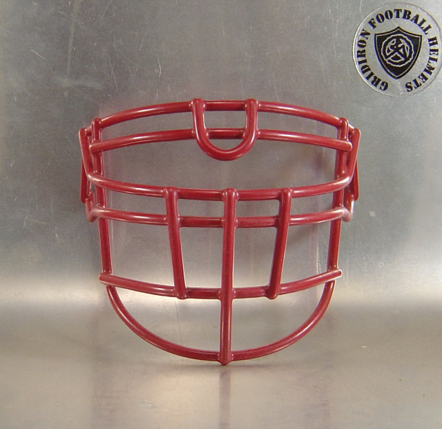OLDLU Cardinal Metal Mini Football Helmet Facemask(facemasks clips not included)