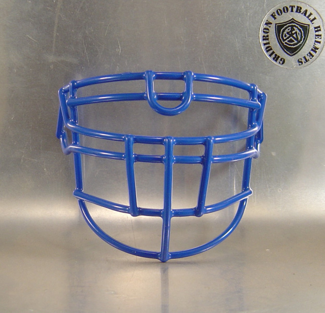 OLDLU Royal Blue Metal Mini Football Helmet Facemask(facemasks clips not included)