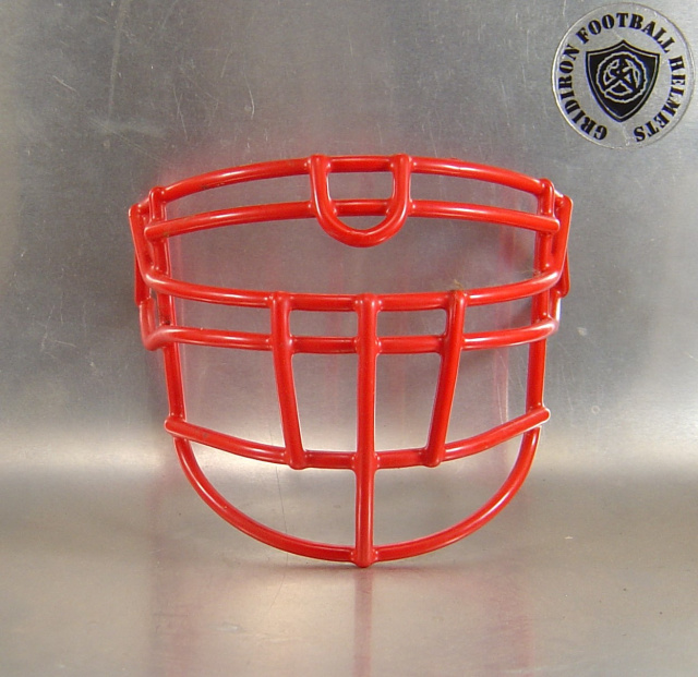 OLDLU Scarlet  Metal Mini Football Helmet Facemask(facemasks clips not included)