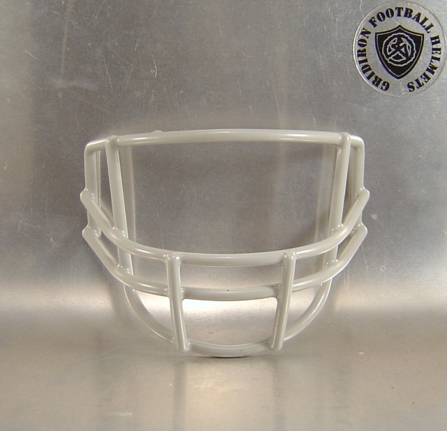 Gray QBWR 1970's Metal Mini Football Helmet Facemask(facemasks clips not included)