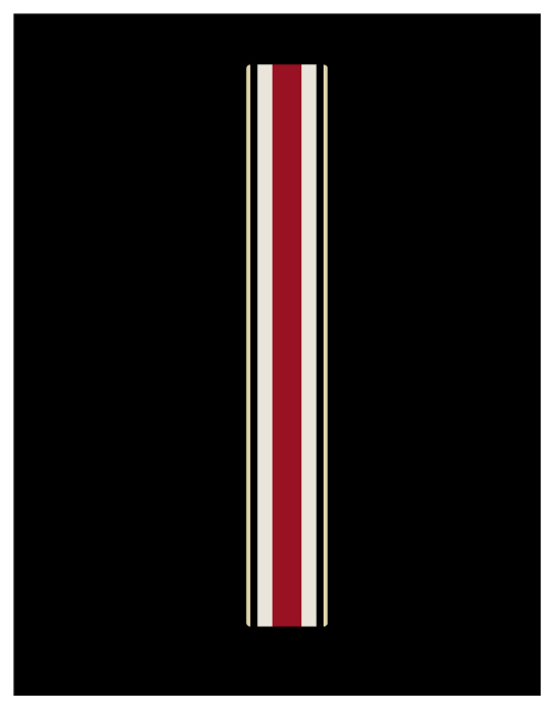 Ohio State Multi Stripe for mini football helmets