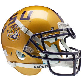 LSU Tigers 2009 Gold Authentic XP Football Helmet Schutt