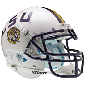 LSU Tigers 2011 White Authentic XP Football Helmet Schutt