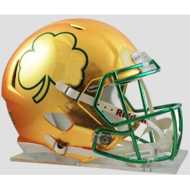 Notre Dame Fighting Irish Speed Football Helmet 2013 HydroSkin