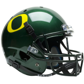 Oregon Ducks Full XP Replica Football Helmet Schutt Green Helmet