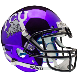TCU Horned Frogs Authentic College XP Football Helmet Schutt Chrome 2014
