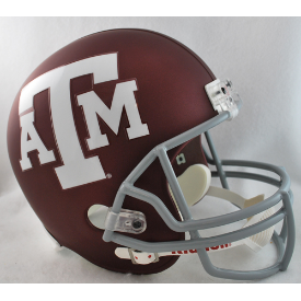 Texas A&M Aggies Full Size Replica Football Helmet Matte Maroon