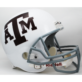 Texas A&M Aggies Full Size Replica Football Helmet White