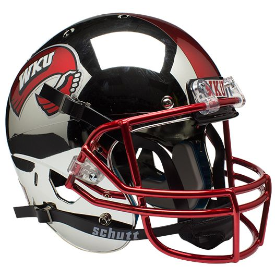 Western Kentucky Hilltoppers Full XP Replica Football Helmet Schutt Chrome 2014