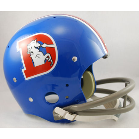 Denver Broncos 1968 to 1974 TK Throwback Football Helmet