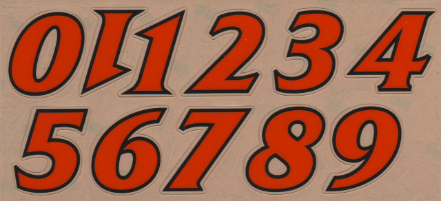 "1 1/2"" Tusculum Pioneers Orange outlined in Black Left and Right side player number EX:17"