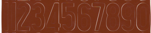 "1 1/2"" Texas Longhorns Brown left and right number set"