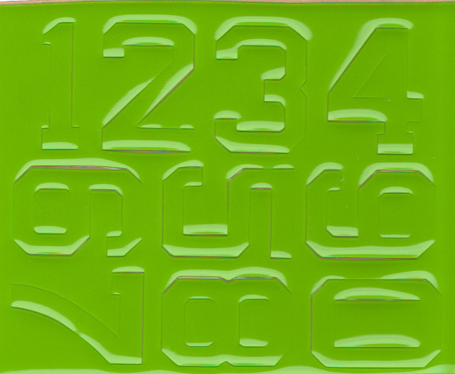 "1 1/2"" Block Style #2 Lime Green pair (right and left side)"