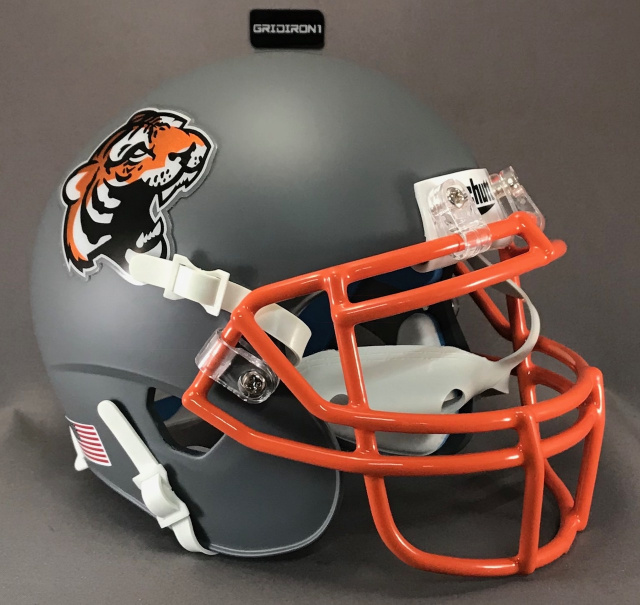 Chicago Tigers 2018-2019 Matte Dark Gray Chrome Decals