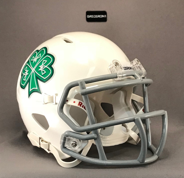Dublin Shamrocks 2016 White with Gray Mask