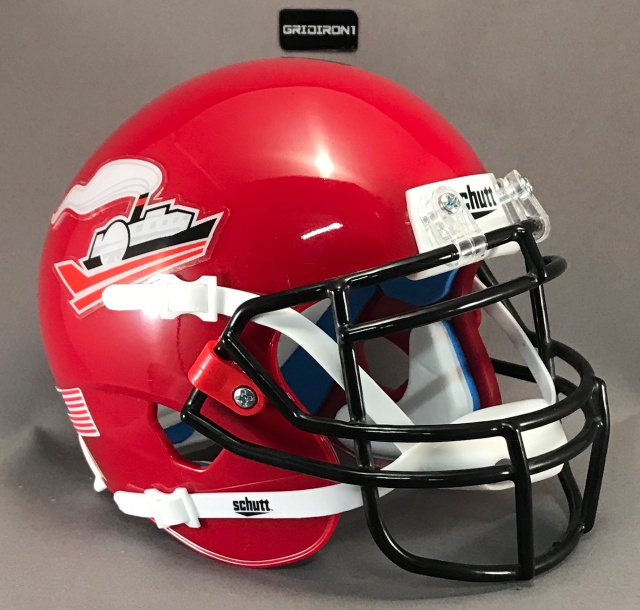 Memphis Steamers Scarlet mini football helmet 2019