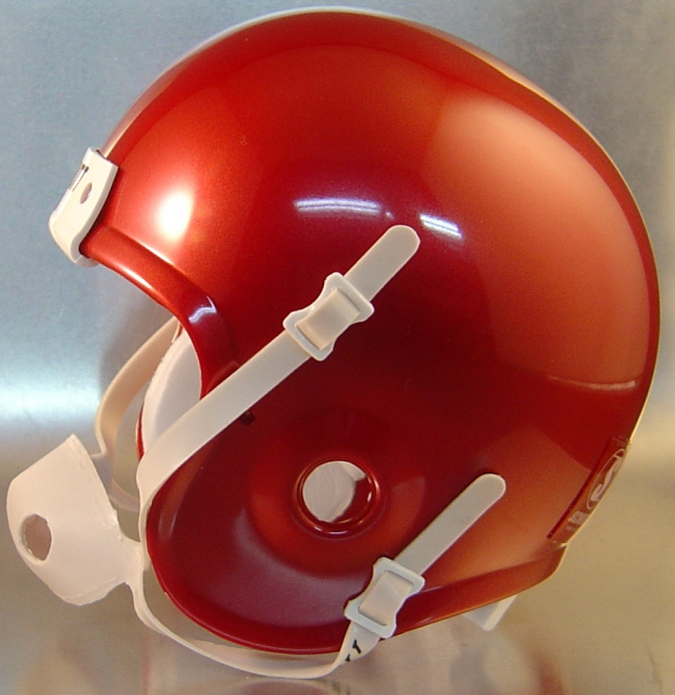 Sooner Crimson Schutt Mini Football Helmet Shell