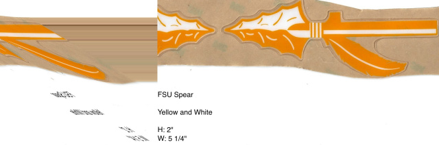 FSU Spear Yellow, white, and clear