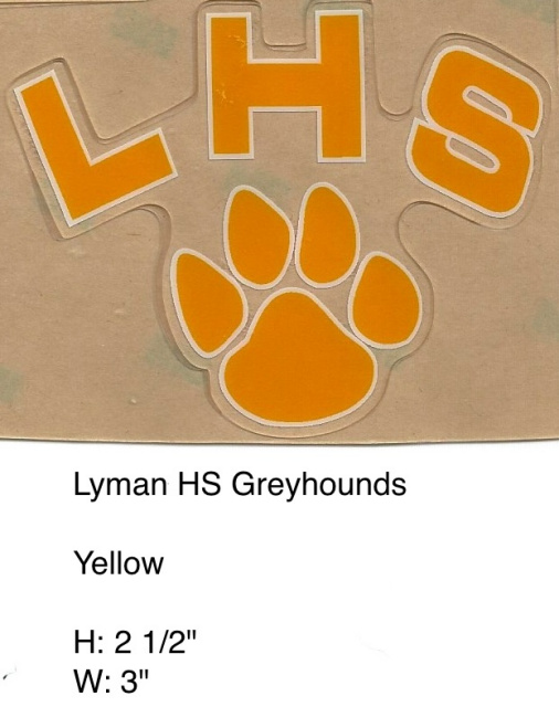 Lyman Grayhounds HS (FL) Yellow LHS dog paw outlined in white