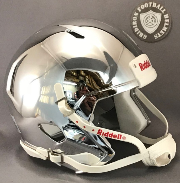 Riddell Speed Blank Mini Football Helmet Shell Chrome Silver