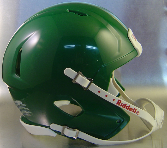 Riddell Speed Blank Mini Football Helmet Shell Kelly