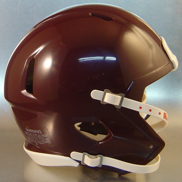 Riddell Speed Blank Mini Football Helmet Shell Maroon (like TX&M Football Helmet Color)