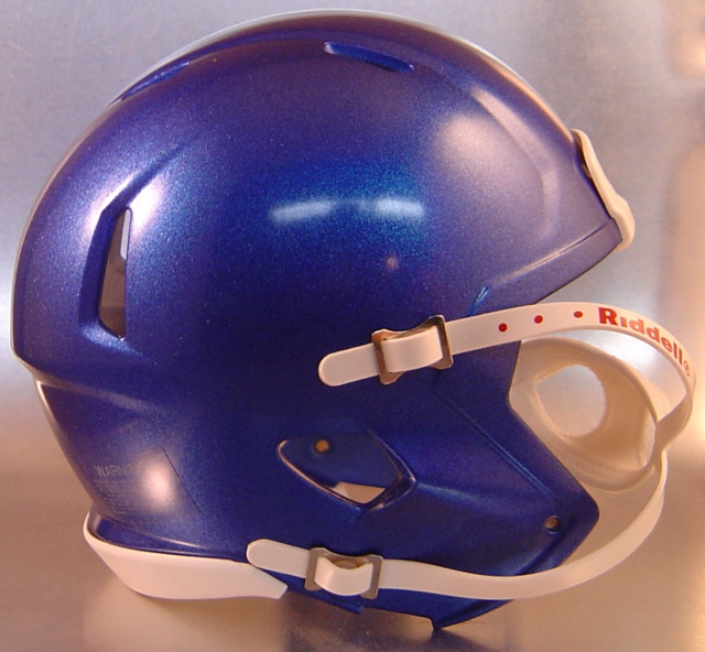 Riddell Speed Blank Mini Football Helmet Shell Metallic Royal