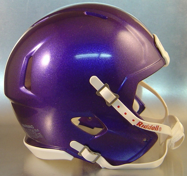 Riddell Speed Blank Mini Football Helmet Shell Metallic Purple