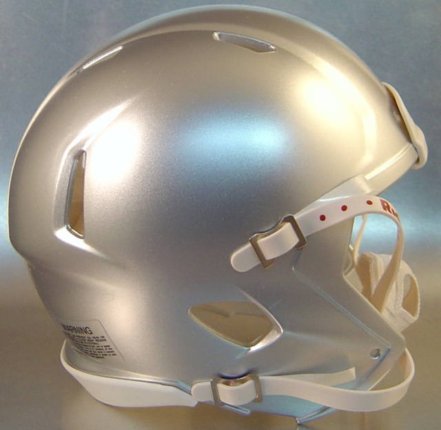 Riddell Speed Blank Mini Football Helmet Shell Silver