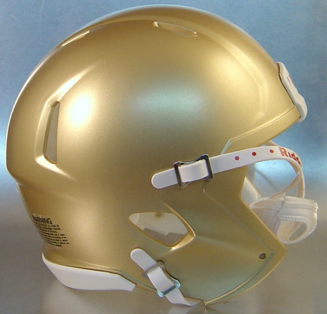 Riddell Speed Blank Mini Football Helmet Shell South Bend Gold