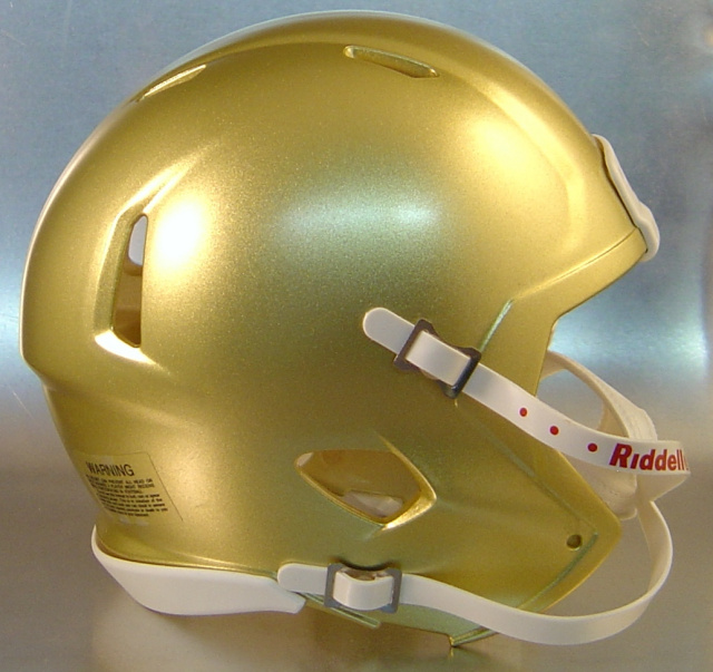 Riddell Speed Blank Mini Football Helmet Shell Vegas Gold (Discontinued)