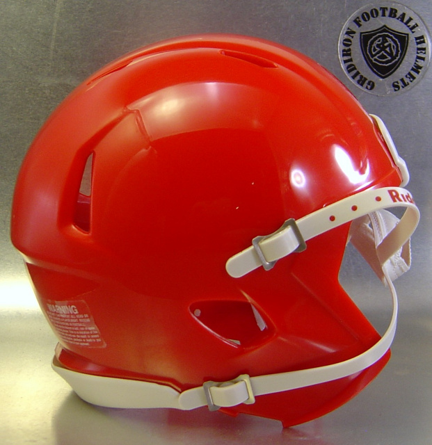 Riddell Speed Blank Mini Football Helmet Shell Scarlet Red (like Georgia Bulldogs Helmet Color