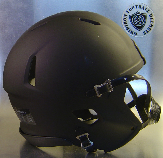 Riddell Speed Blank Mini Football Helmet Shell Matte Black with Black out Kit