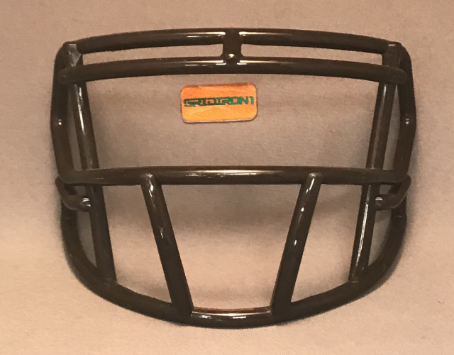 Dark Brown (Cleveland Brown) mini facemask (facemask clips not included)