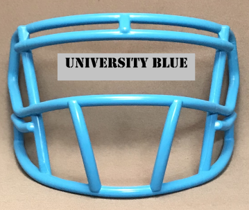 University Blue Satin mini Facemask (Clips not included)