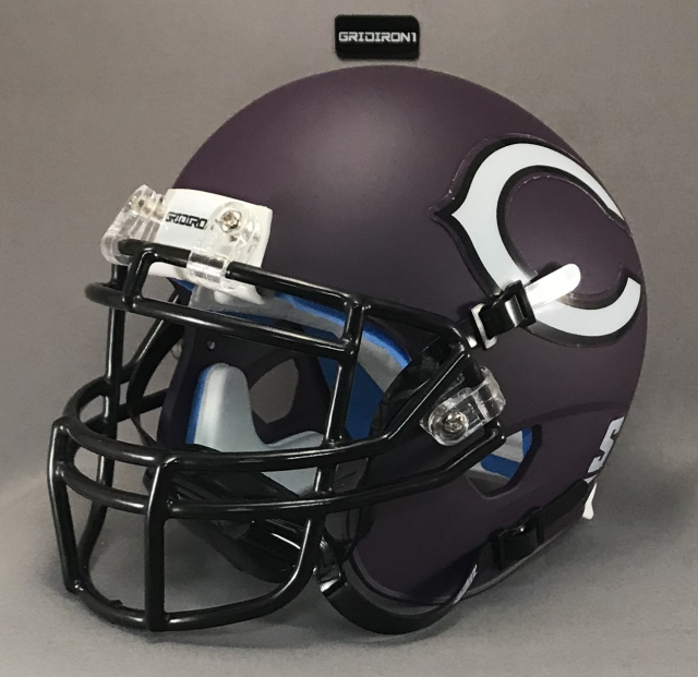 Canyon Eagles HS 2016 (TX) Matte Purple Black mask