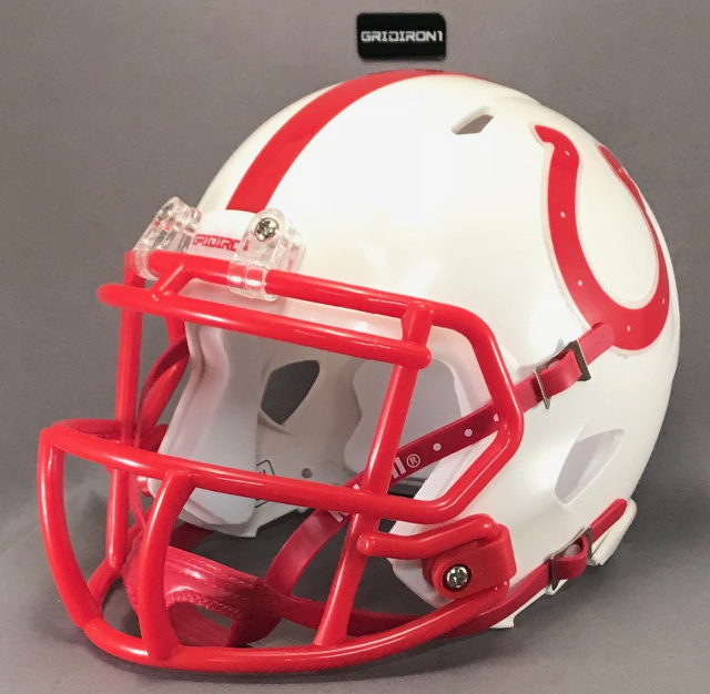 "Horse shoe Red (used by Odessa Bronchos HS (TX) 2"" tall"