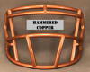 Hammered Copper mini Facemask (Clips not included)