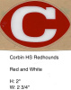 Corbin RedHounds HS (KY) Red Football White C